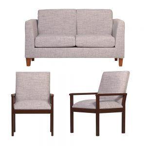 Living Zante Sofa 2 Cuerpos 2 Sitiales Gris 1