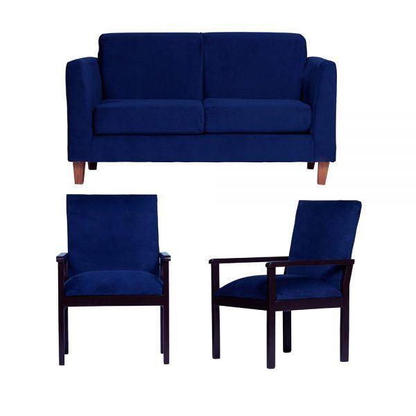 Living Zante Sofa 2 Cuerpos Sitiales Azul 1
