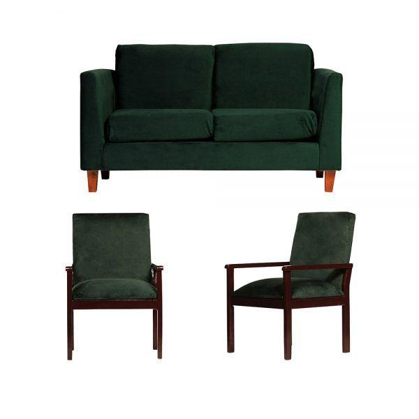 Living Zante Sofa 2 Cuerpos Sitiales Verde 1