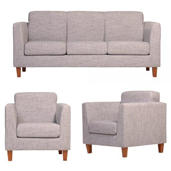 Living Zante Sofa 3 Cuerpos 2 Sillones Gris 1