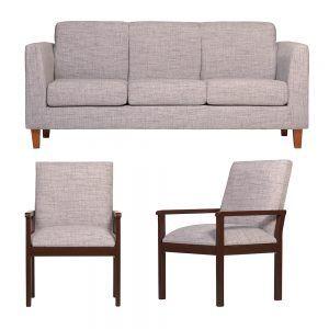Living Zante Sofa 3 Cuerpos 2 Sitiales Gris 1