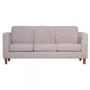 Living Zante Sofa 3 Cuerpos 2 Sitiales Gris 2