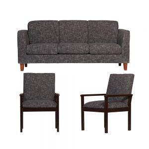 Living Zante Sofa 3 Cuerpos 2 Sitiales Gris Oscuro 1