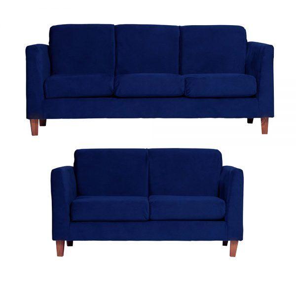 Living Zante Sofa 3 Cuerpos Sofa 2 Cuerpos Azul 1