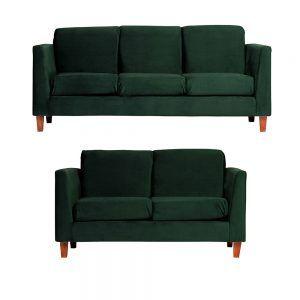 Living Zante Sofa 3 Cuerpos Sofa 2 Cuerpos Verde 1