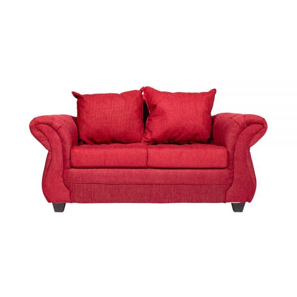 Sofa Bertolucci 2 Cuerpos Rojo 1