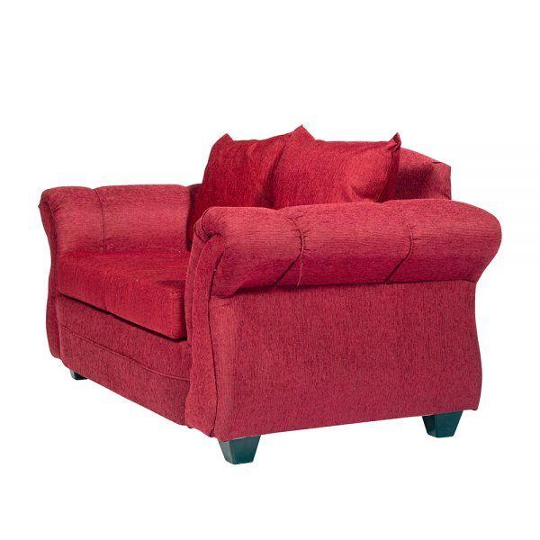 Sofa Bertolucci 2 Cuerpos Rojo 2