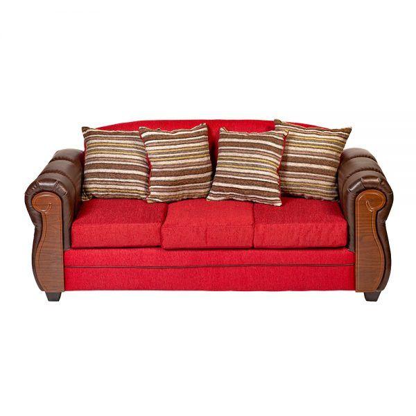 Sofa London 3 Cuerpos Rojo 2