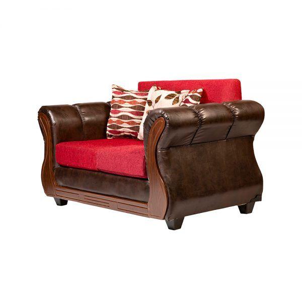 Sofa Richmond 2 Cuerpos Rojo 3