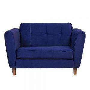 Sofa Rodas 2 Cuerpos Azul 1