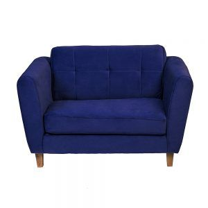 Sofa Rodas 2 Cuerpos Azul 2