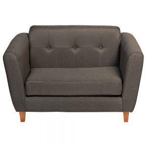 Sofa Rodas 2 Cuerpos Gris Oscuro 2