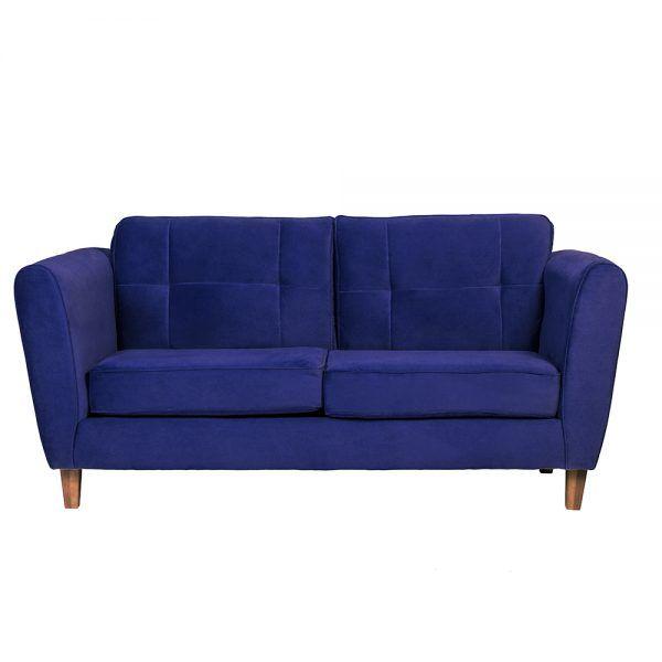 Sofa Rodas 3 Cuerpos Azul 1