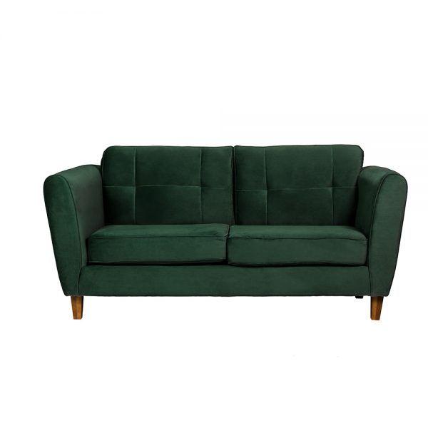Sofa Rodas 3 Cuerpos Verde 1