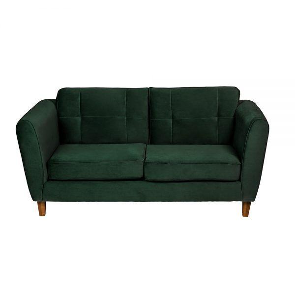Sofa Rodas 3 Cuerpos Verde 2